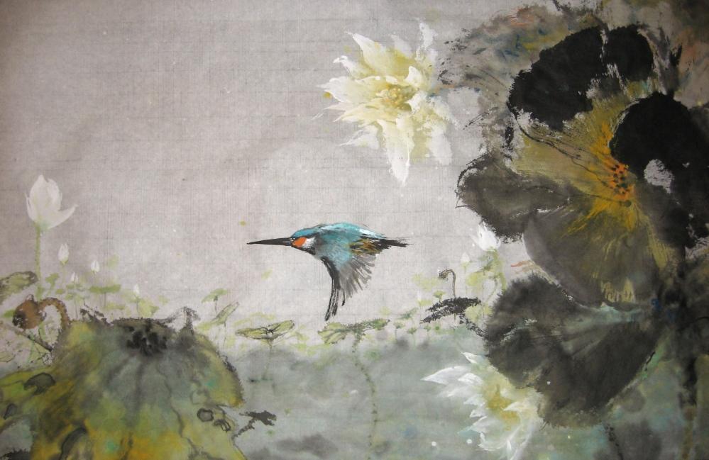 Kingfisher & Lotus
